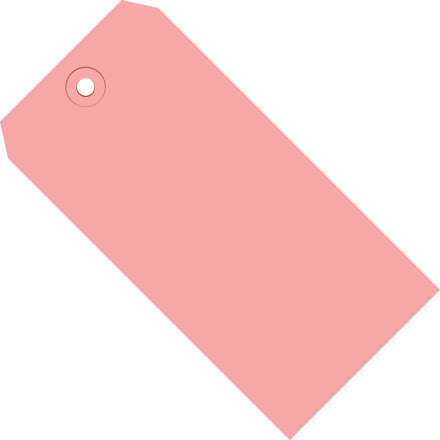 "8 x 4"" Pink 13 Pt. Shipping Tags"